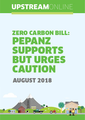 Zero Carbon Bill: PEPANZ supports but urges caution  - August 2018