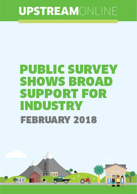 Public survey shows broad support for industry - February 2018