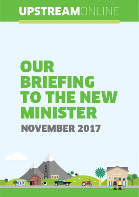 Our briefing to the new Minister - November 2017