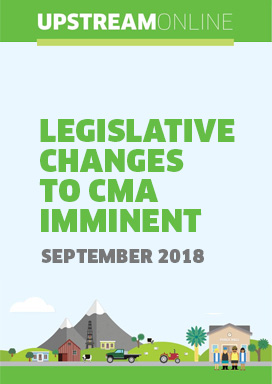 Legislative Changes to CMA imminent - September 2018